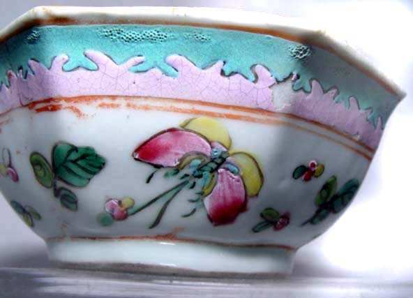 Chinese Nyonya Ware Bowl with Butterflies - 19th Century