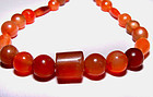 Ancient Carnelian Bead Necklace #2- Asia 500 -1000 BC