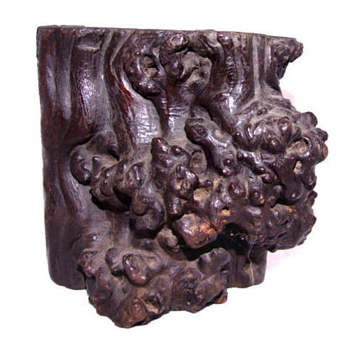 Chinese Natural Burl Wood Brushpot Holder - Ming 17 Century