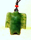 Chinese Jadeite Translucent Green Jade Bird - 206 BC - 25AD