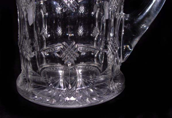 Heisey Glass Pitcher with Silver Open Work Maker's Mark