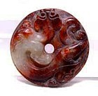 Chinese Jade Han Dragon Bi Disc