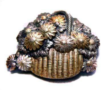 Japanese Obidome Flower Basket(Signed) - Meiji Period