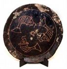 Chinese Ten Kingdoms Wooden Black Lacquered Plate - 10th Century