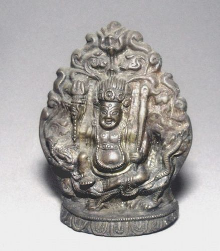 Bronze Tibetan God Jambola of Wealth and Good Fortune