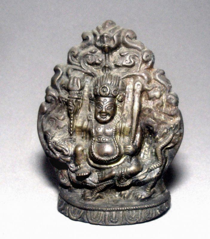 Bronze Tibetan God Jambola of Wealth and Good Fortune
