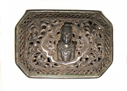 Burmese Repousse Silver Box - Early 1900