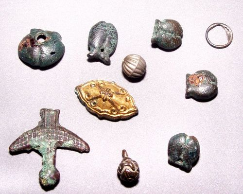 Ten Old Chinese Metal Charms