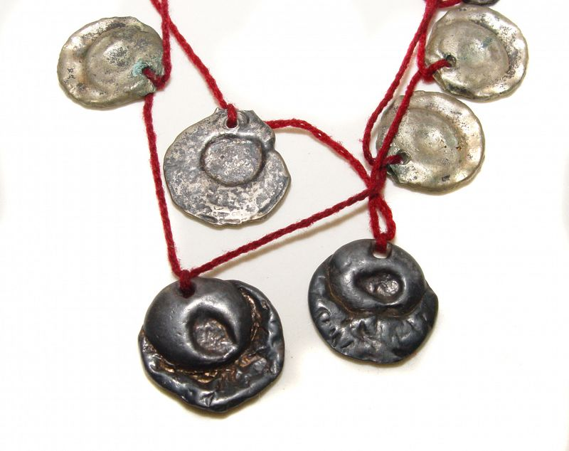 Ancient Silver Medallion Necklace in Two Parts