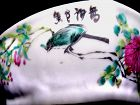 Chinese Nyonya Dish with Bird & Flowers - 19th Century