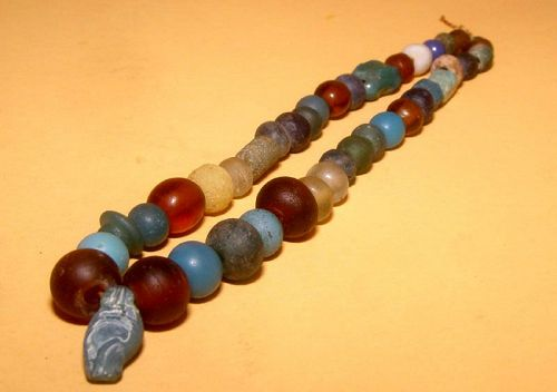 Chinese Assorted Glass Bead Necklace  - 1000 AD - 100 BC