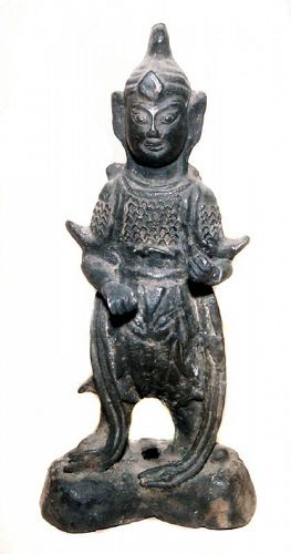 Chinese Bronze Warrior - Yuan Dynasty - 1279-1368 AD