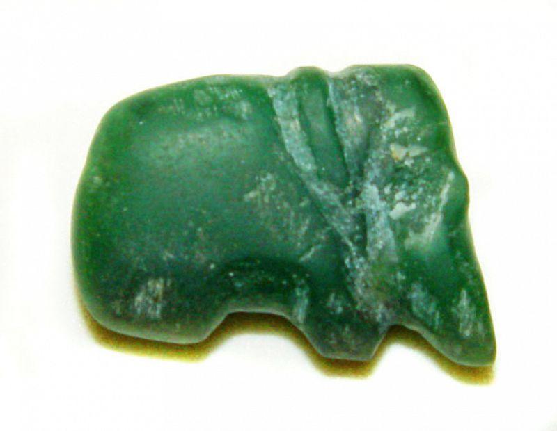 Pyu Fluorite Elephant Pendant 100-500AD