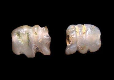 Two Mini Stone Pyu Elephants - 100AD - 500AD