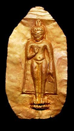 Gold Repousse Standing Buddha - Burma 17th Century