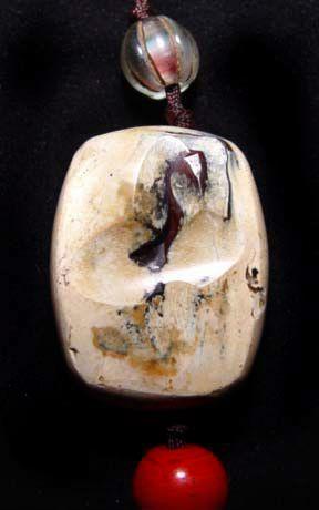 Rare Chinese White Han Stone Pendant -  206BC-220 AD
