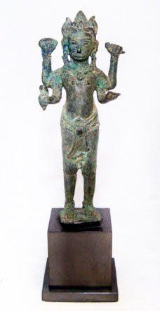 Khmer Bronze Angkor Wat Statue of Vishnu- 12th Century