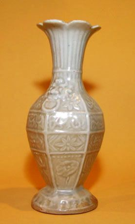 Very Rare Chinese Yuan Glazed Moulded  Vase -  13th Century