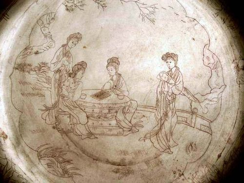 Rare Chinese White Brass Paitong Basin -  Qing 18th C.