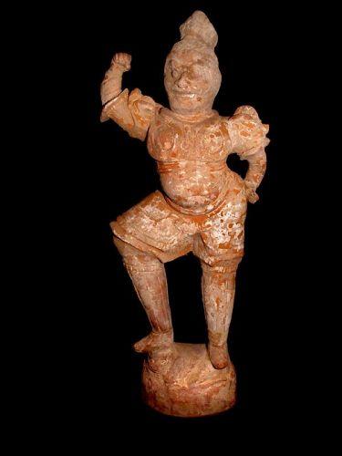 Rare Chinese Tang Tomb Guardian Warrior    618 - 907 AD