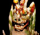 Large Chinese Tang Sancai Glazed Tomb Guardian -618 - 907 AD