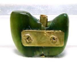 Ancient Gold Repair Jadeite Pendant - 500BC