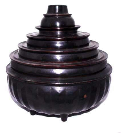Burmese Lacqerware Food Container #1 - 19th Century