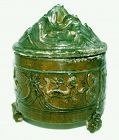 Rare Chinese Han Hill Jar w/Hunting Scenes - 206 BC - 220 AD
