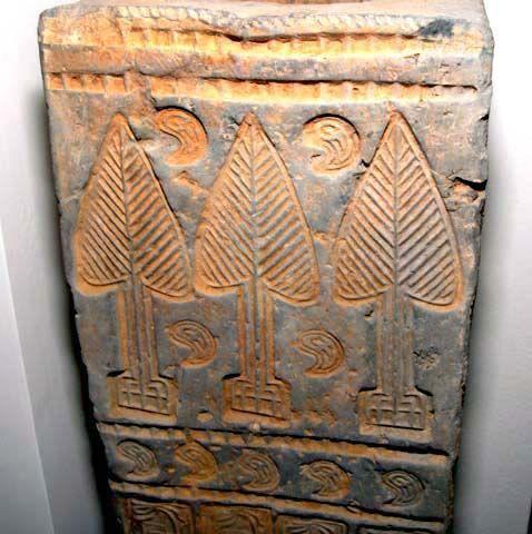 Large Rare Chinese Han Tomb Door Pillar - 206BC - 25AD
