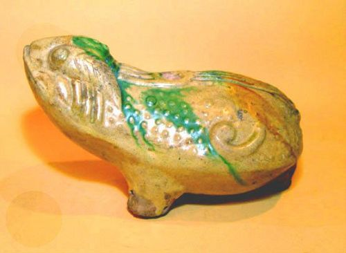 Rare Chinese Ming Frog Water Dropper - 15th Century