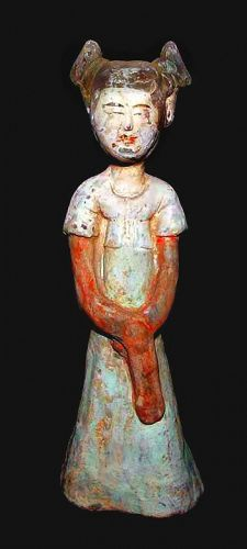 Chinese Tang Court Lady W/ Original Pigment - 8th Century.