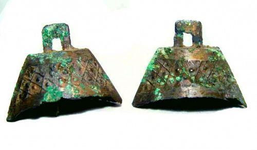 Chinese Eastern Zhou Bronze Bells - 770 - 221 BC