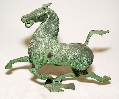 Chinese Bronze Flying Horse of Gansu Replica