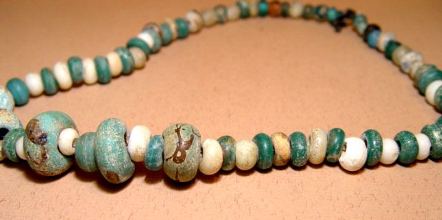 Rare Chinese Han Glass Bead Necklace - 206BC - 220 AD