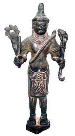 Cambodian Bronze Statue of Vishnu - 16th Century