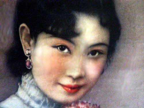 Original Framed Poster of Mao Tse Tung wife Jiang Qing as an Actress