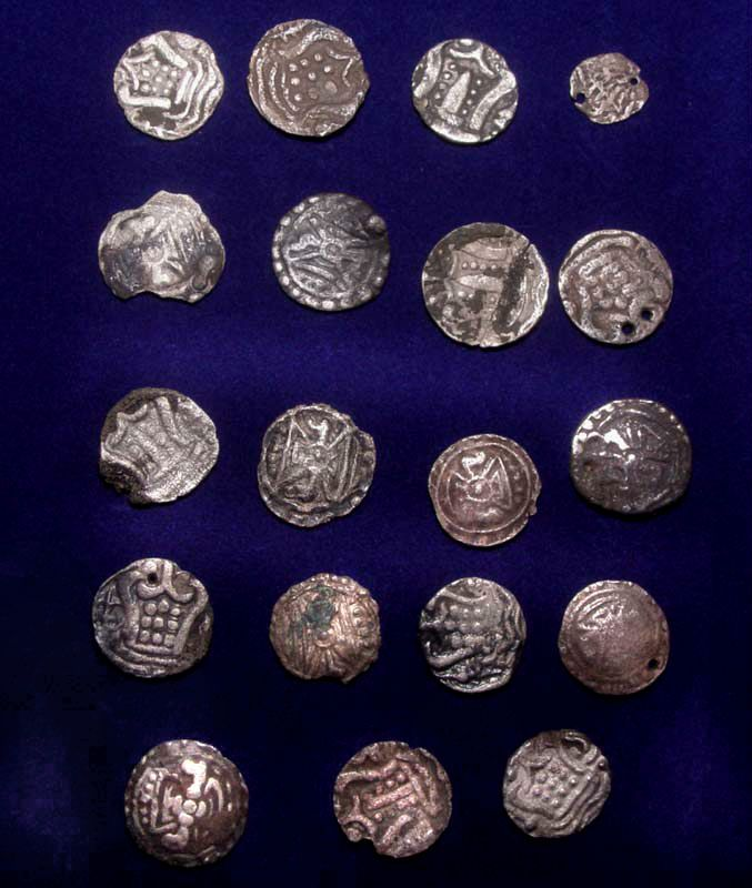 Nineteen Rare Set of Amcient Pyu Silver Coins 100 - 500AD