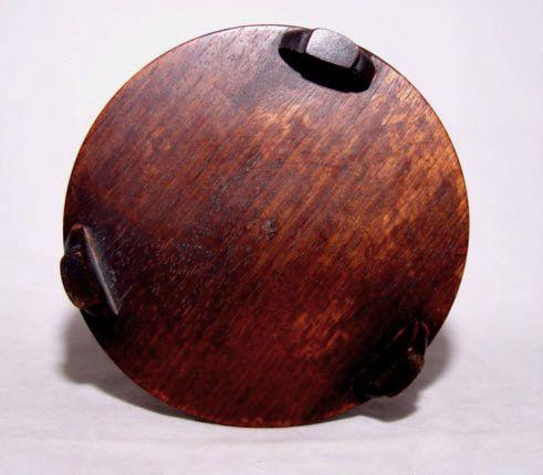 Chinese Bamboo Brush Pot Holder w/Seated Sage - 19 C.