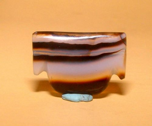 Ancient Natural Banded Agate Bead Pendant - 100BC #3