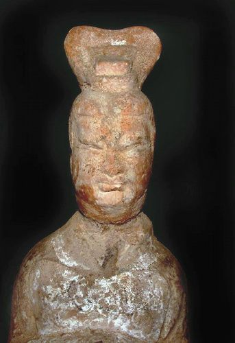 Chinese Large Tang Tomb Attendant  618 - 907 AD
