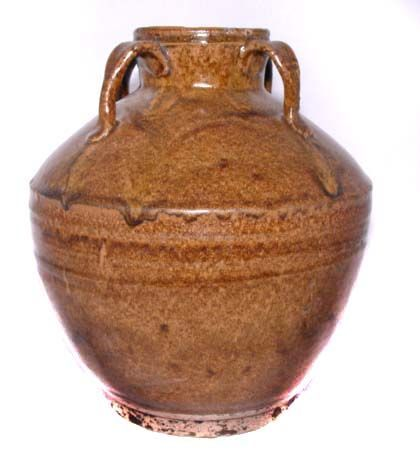 Chinese Tang Tea Dust Glazed Vase - 619 - 907 AD