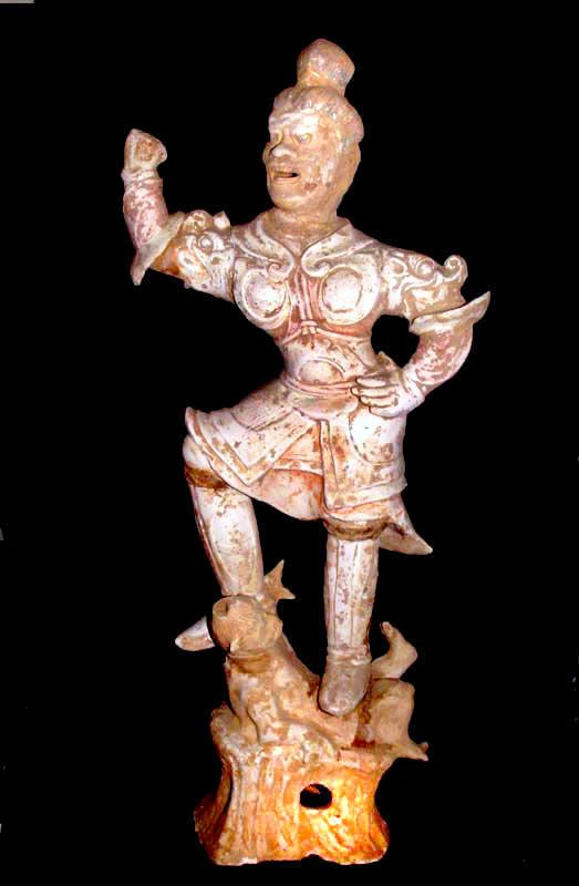Large Chinese Tang Tomb Guardian Warrior  618 - 907 AD