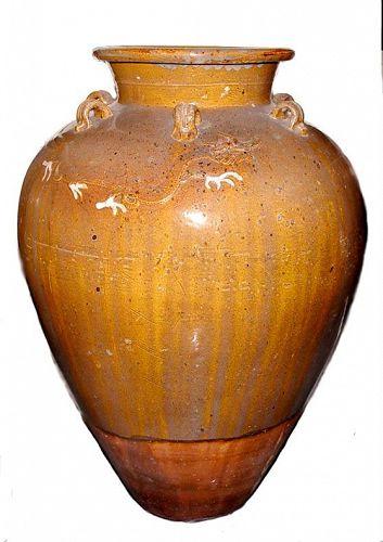 Chinese Two Dragon Martaban Jar - 18th Century