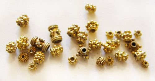 Assorted Ancient Gold Pyu Beads 100 -500 AD