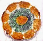 Scalloped Green & Amber Glazed Liao Plate 907-1125 AD