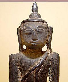 A Seated Burmese Bronze Buddha -  17th/18th Century
