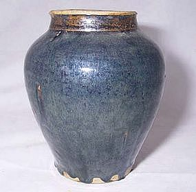A Nice Chinese Blue Glazed Song Vase. 1127 - 1279 AD