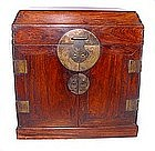 Rare Chinese Ming Huanghuali Table-Top Chest-16/17th C.