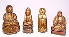 Four Chinese Gilded Wooden Holy Statues- Ming-Qing