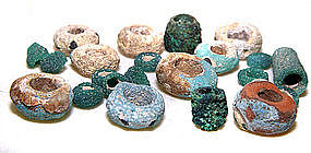 Chinese Assortment of Han Glass Beads - 206 BC - 25 AD